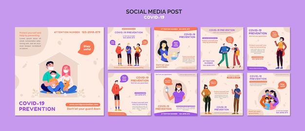 Covid 19 post w mediach społecznościowych