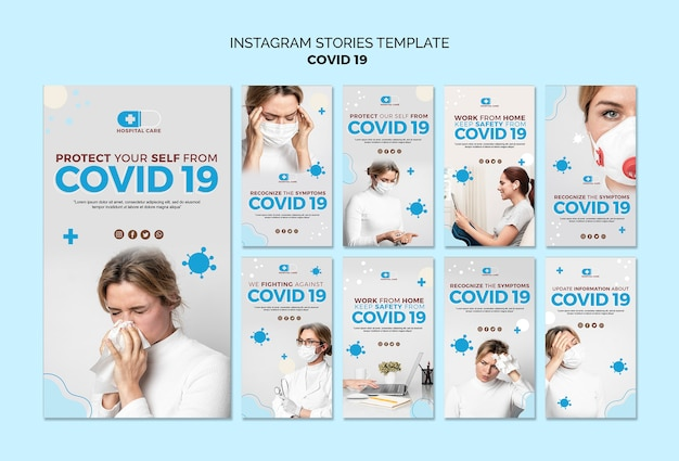 Covid19 szablon historii na instagramie
