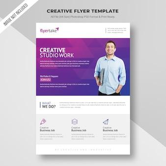 Creative studio work flyer