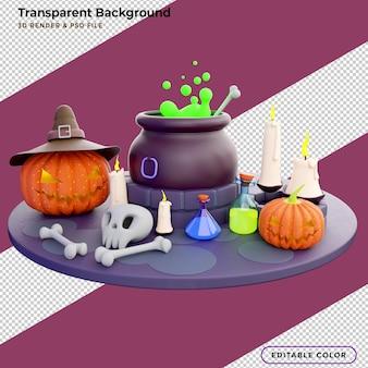 Cukierek albo psikus, tło wakacje halloween z pełni księżyca, cukierki, kocioł czarownicy