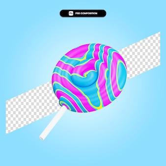 Cukierki 3d render ilustracja na białym tle