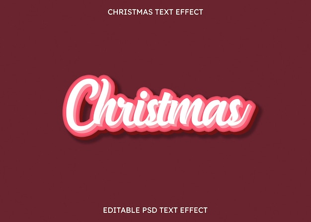 Cukierki wyglądające 3d świąteczny edytowalny efekt tekstowy