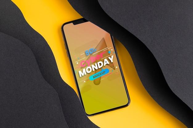 Cyber poniedziałek koncepcja z makietą