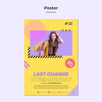 Cyber poniedziałek plakat ze zdjęciem