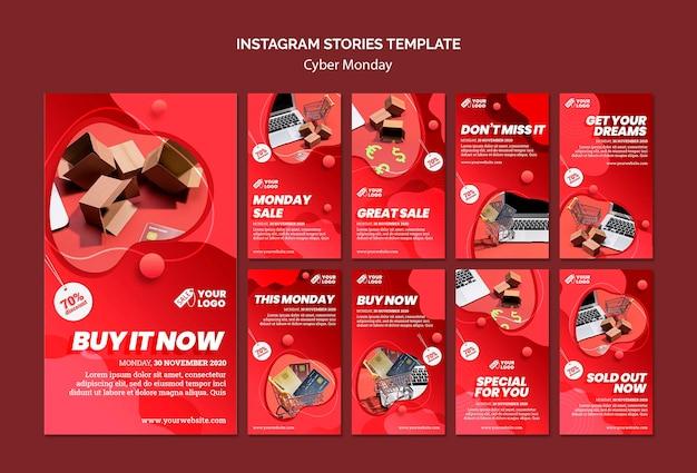 Cyberponiedziałkowe historie na instagramie