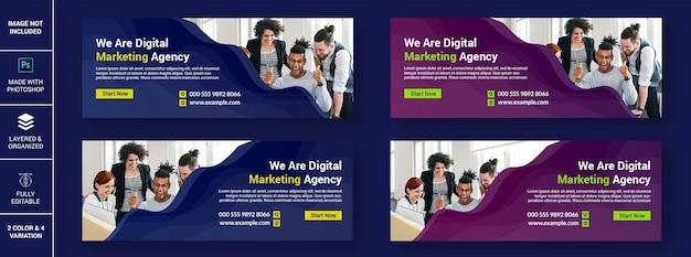 Cyfrowa agencja marketingowa facebook zestaw szablonów