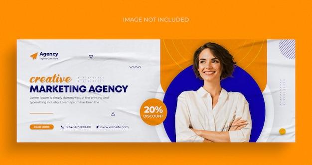 Cyfrowa agencja marketingowa w mediach społecznościowych baner internetowy na instagramie lub szablon okładki na facebooka