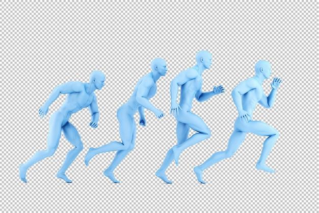 Cyfrowa ilustracja biegających sportowców