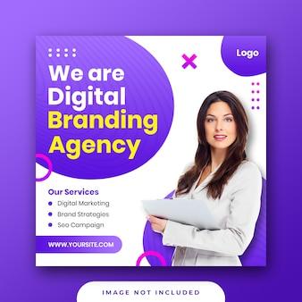 Cyfrowy biznes marketing media społecznościowe post instagram banner premium psd