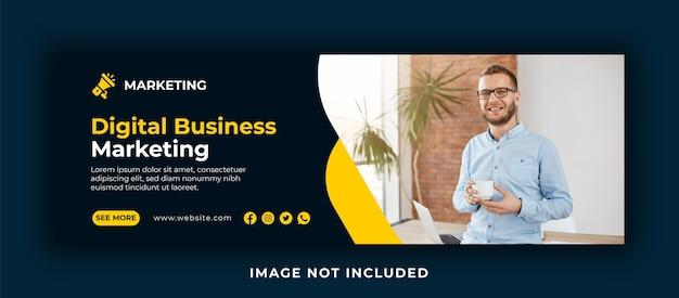 Cyfrowy biznes marketing okładka facebooka i projektowanie banerów internetowych