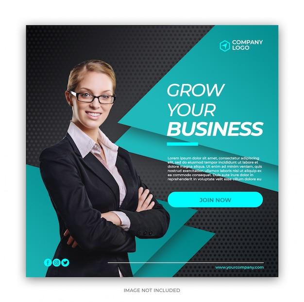 Cyfrowy biznes marketingowych mediów społecznościowych banner square