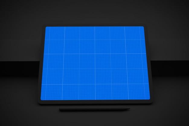 Cyfrowy tablet z ekranem makiety