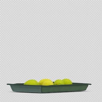 Cytryny 3d render