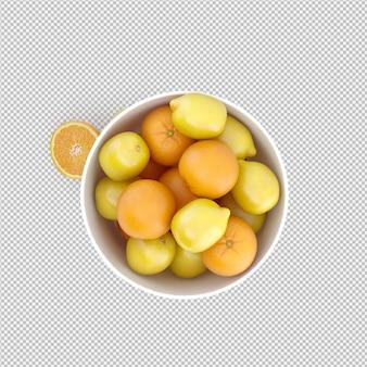 Cytryny i pomarańcze 3d render