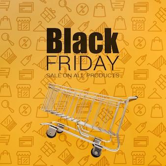 Czarna promocyjna kampania sprzedażowa