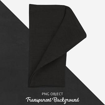Czarna tkanina na przezroczystym tle