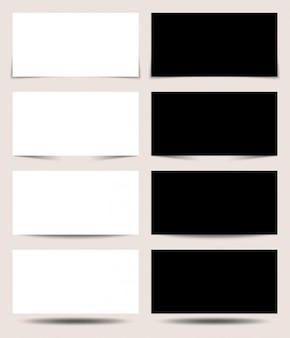 Czarne i białe panele projekcyjne