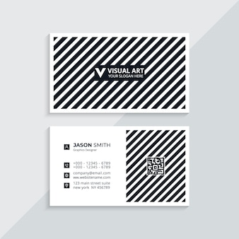 Czarno-biała wizytówka