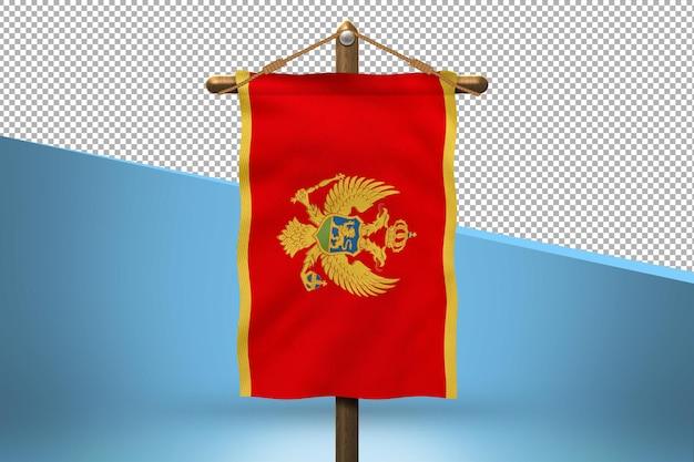 Czarnogóra powiesić flaga wzór tła