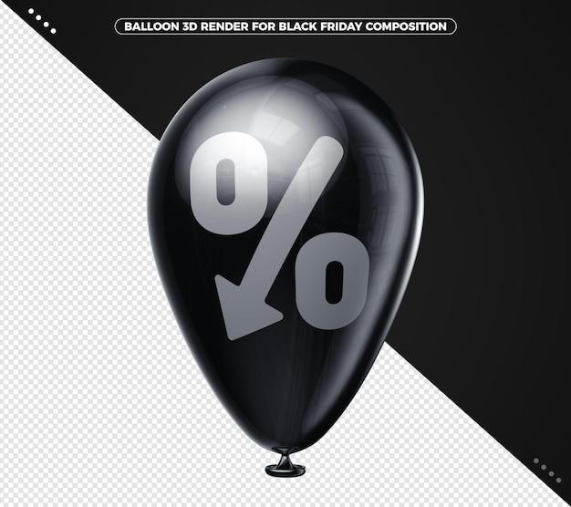 Czarny balon czarny piątek