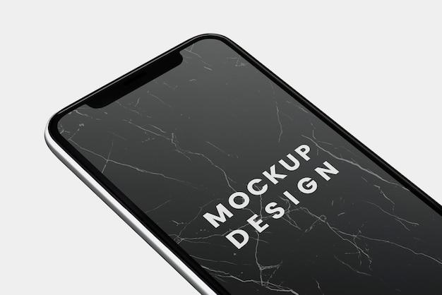 Czarny ekran smartphone makieta projektu