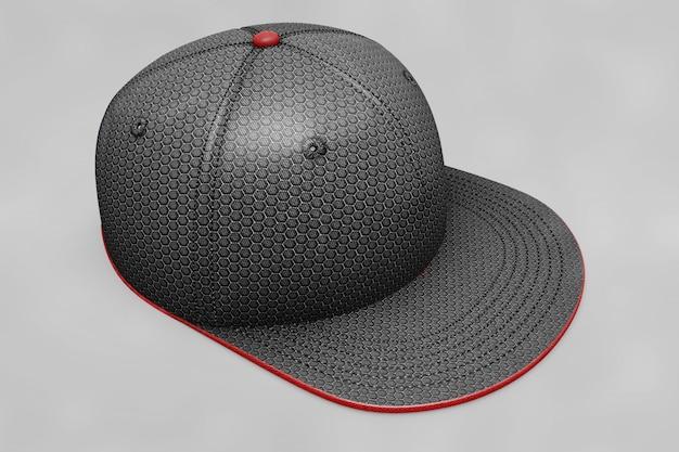 Czarny makieta czapki z daszkiem