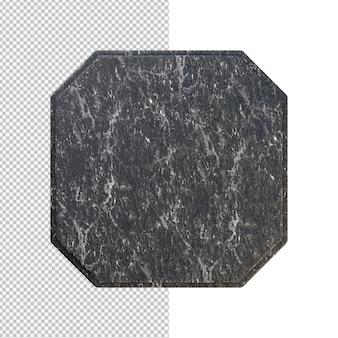 Czarny marmur płytki na białym tle ilustracja
