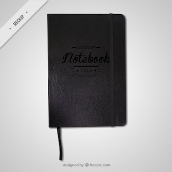 Czarny notes makieta