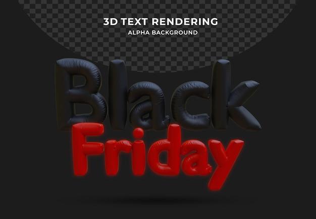 Czarny piątek balon foliowy realistycznego 3d na białym tle