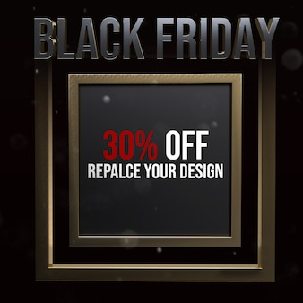 Czarny piątek socail media square mockup design