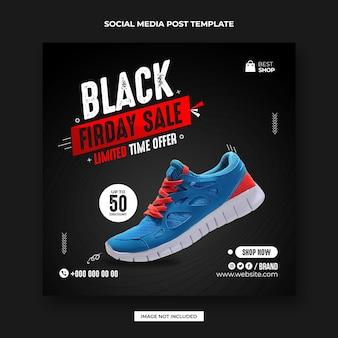 Czarny piątek sportowe buty post w mediach społecznościowych