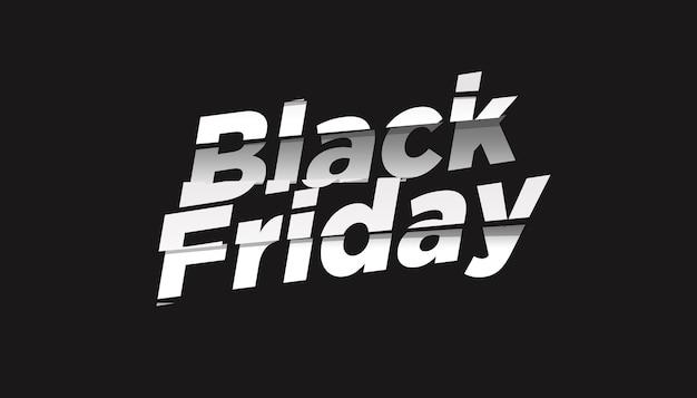 Czarny piątek sprzedaż efekt tekstowy szablon projektu