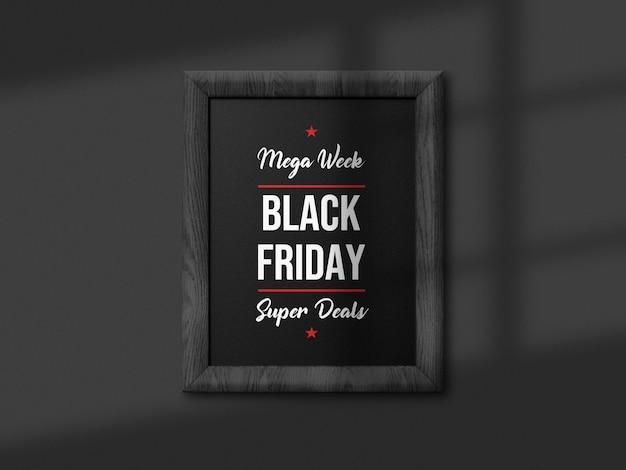 Czarny piątek sprzedaż makieta tablicy