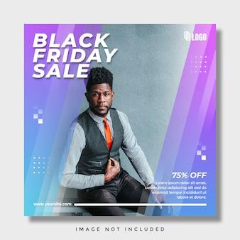 Czarny piątek sprzedaż post na instagramie w mediach społecznościowych