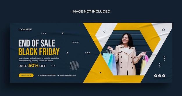 Czarny piątek sprzedaż social media instagram baner internetowy lub szablon okładki na facebooku