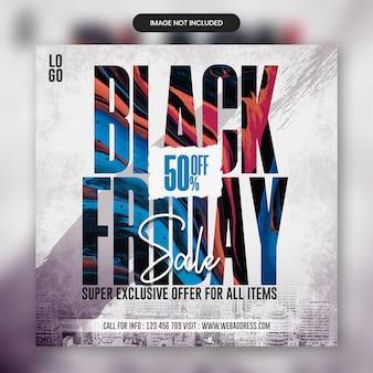 Czarny piątek sprzedaż szablon banera mediów społecznościowych