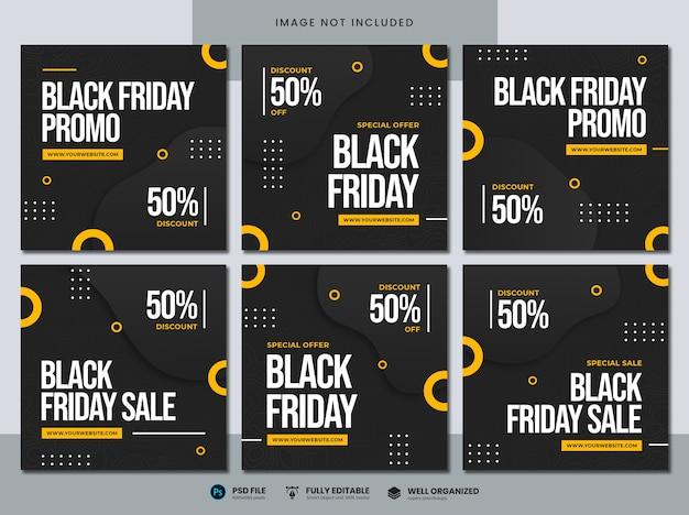 Czarny piątek sprzedaż szablon mediów społecznościowych