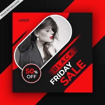 Czarny piątek sprzedaż w mediach społecznościowych