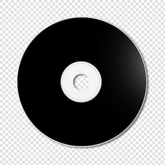 Czarny szablon cd - dvd makieta na białym tle
