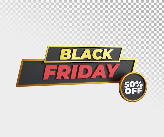 Czarny szablon transparent promocji sprzedaży fiday