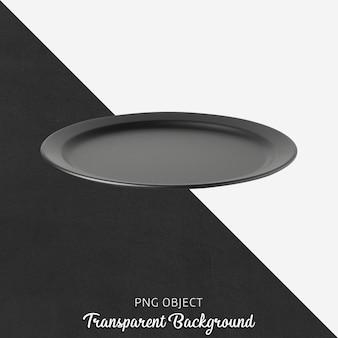 Czarny talerz na przezroczystym tle