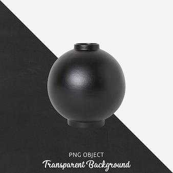 Czarny wazon lub doniczka na przezroczystym