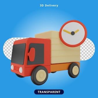 Czas dostawy renderowania 3d ilustracja