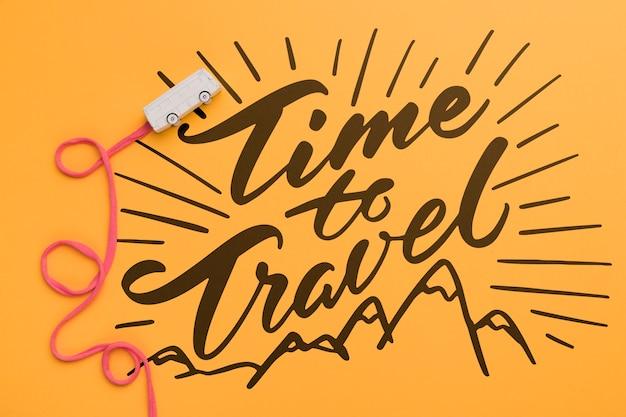Czas podróży, ozdobny napis