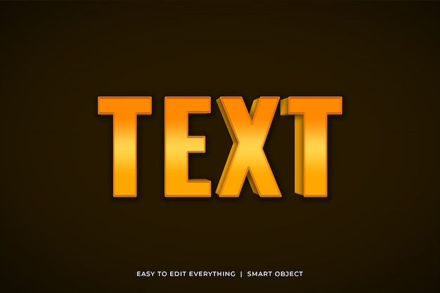 Czcionka tekstu efekt złotego koloru