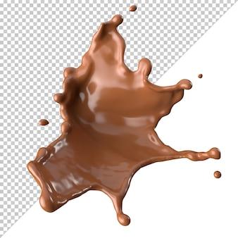 Czekoladowe mleko splash 3d realistyczne