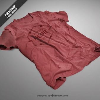 Czerwona koszulka makieta