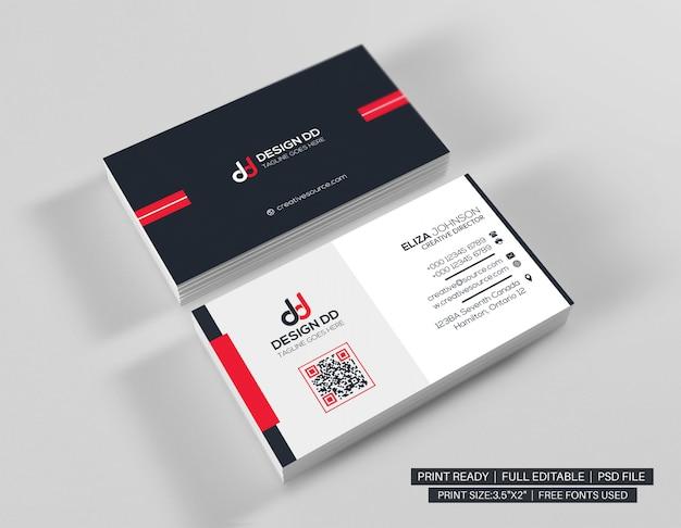 Czerwona minimalistyczna wizytówka
