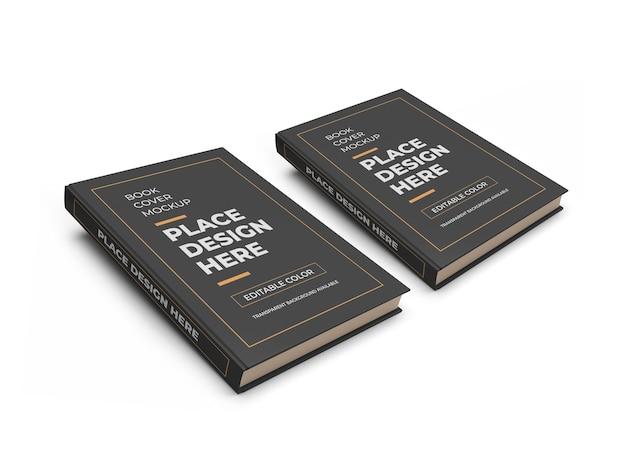 Czerwona okładka książki 3d makieta na białym tle