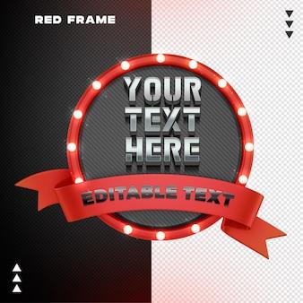 Czerwona ramka z renderowaniem projektu wstążki